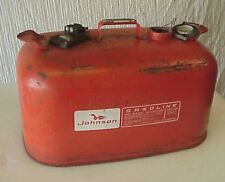 Vintage Johnson Outboard 6 gallon fuel gas tank Evinrude OMC boat CLEAN