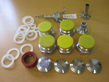Brewers Hardware Parts -- Tri Clover Comp. Caps, Cam & Groove Plugs, Couplings,