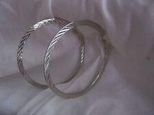 Pendientes De Aro tamaño 60 mm Plata Metal mixtas diseño agradable