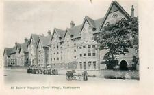 All Saint's Hospital Donkey Cart Eastbourne pc used 1903 Maida Hill postmark