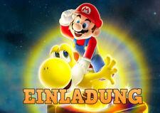 12 Umschläge Kindergeburtstag T3 Super Mario Einladungskarten 12er Set