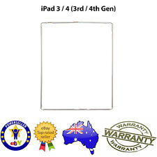 for iPad 3/4 - TOUCH SCREEN DIGITIZER LCD PLASTIC MID FRAME BEZEL TRIM - WHITE