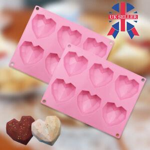 Silicone Mould Heart Shape Cake 3D Tool Geometric Baking Mold Chocolate DIY