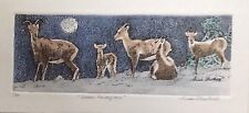 Moonlit Rendezvous- US, Small, Etching, Realism, Animals