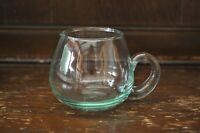 Fabulous Vintage Unusual Blue Tinted Small Clear Glass Sauce Jug - 6.5cm Tall