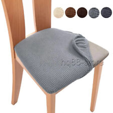 UK Stretch Dining Chair Seat Covers Removable Seat Cushion Slipcovers Protector