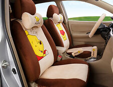 18pcs 2017 new 1 sets Cartoon car seat cover plush seat covers car-covers brown