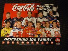 1999 COKE FAMILY NASCAR Official Coca cola Bottling Poster New old Stock