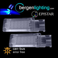 FOR VOLKSWAGEN GOLF & PLUS CADDY 18 BLUE LED FOOTWELL LIGHT LAMP PAIR