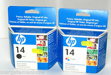 Genuine HP 14 Black and Colour C5011DE and C5010DE - Out of Date - New & Sealed