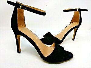 NEW! APT 9 Women's Prosper High Heel Open Toe Sandals Black #160089 72D tp