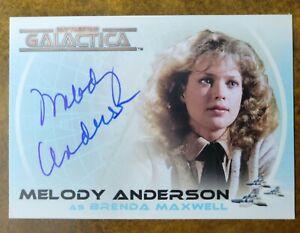 Melody Anderson Rittenhouse Battlestar Galactica Autographed Card A25 Auto AU