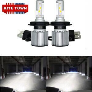 Canbus 200W H4 9003 HB2 LED Headlights Bulbs Kit High Low Beam SUPER WHITE 2x