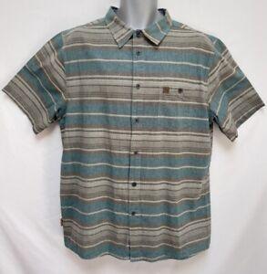 Hippy Tree Men's Cotton Striped Button Down Shirt Original Surf & Stone Size XL