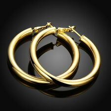 18K Gold Filled 50MM /2 inch Large Hypo-Allergenic LIGHT WEIGHT Hoop Earrings E7