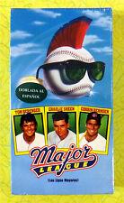 Major League (Spanish Subtitles) ~ New VHS Movie ~ Las Ligas Mayores Video