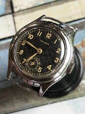 1940s Nivada Pilot (?) Style Gilt Dial Mens Watch READ Description!