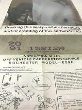 Carburetor Repair Kit-Carb. Tune-Up Kit BWD 10735A Walker 15812A