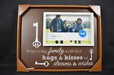 Inspirational Picture Photo Frame 4x6 Key to a Happy Family Hugs & Kisses Wishes