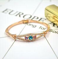 18 Karat Gold Armband Armreif vergoldet Armkette Luxus Damen Armreifen 49€