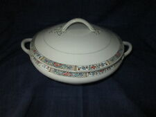 J H Weatherby & Sons HANLEY Falcon Ware Covered Serving Bowl VINTAGE