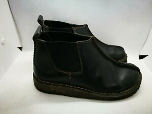 Clarks black leather ankle boots size 4