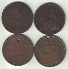 More details for australia & new zealand collection of 4 penny tokens 1857-1874 all listed