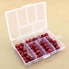 6Grid de plástico recipiente de almacenamiento pequeño Estuche Caja Transparente