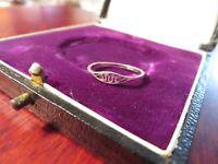 Zierlicher 925 Silber Ring Sterling Welle Schlange Schlicht Kleine Größe Einfach