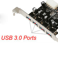 1PC 4 Port USB 3.0 HUB to PCI-e PCI Express Card Adapter Speed Rate up to 5Gbps