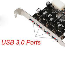 4 PORTE PCIe to USB 3.0 Hub PCI Express Scheda d'ESPANSIONE ADATTATORE 5 GBPS