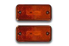 2 x 12V 3 LED ORANGE SIDE MARKER OUTLINE LIGHTS CAMPER CARAVAN TRUCK MOTORHOME