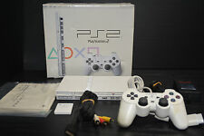 SONY PLAYSTATION 2 PS 2 TWO SLIM SCPH 77000 PSX CERAMIC WHITE CW  IMPORT  JAPAN