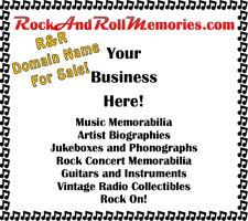 MUSIC DOMAIN NAME SALE! RockAndRollMemories.COM Global 4 biz, blog, products