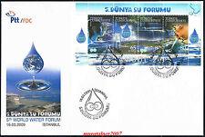 TURKEY 2009, WORLD WATER FORUM ( SOUVENIR SHEET ) FDC