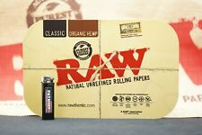 """2 Items - Raw Magnetic Tray cover (7"""" x 11"""") With Patriot Disposable Lighter"""