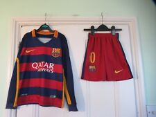 4-5 yrs: 2015 BARCELONA football kit (Top & shorts): MESSI: Authentic NIKE: