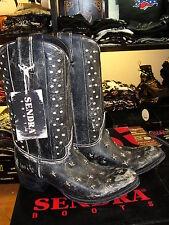 Stivali Boots Texani SENDRA borchie stella vera pelle suola cuoio cucita ULTIMI