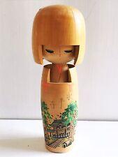 "Vintage Kokeshi Doll Wooden Japan Adorable Cute Signed 7"" Eiheiji Stamped Girl"
