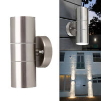 Stainless Steel Up & Down Wall Light GU10 IP44 Lamp Double Outdoor Indoor LED