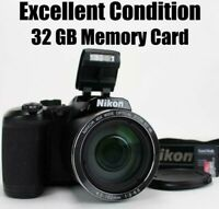 Nikon Coolpix B500 16MP 40x Optical Zoom HD Digital Camera Wi-fi Tilt Screen