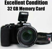 Nikon Coolpix B500 16MP 40x Optical Zoom HD Digital Camera Wi-fi Tilt Screen