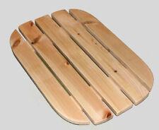 More details for deluxe sauna / shower solid pine duckboard (wooden floor mat) with rubber feet