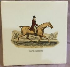 Equestrian Horseman Rider Ceramic Tile Hot Plate Road Riding