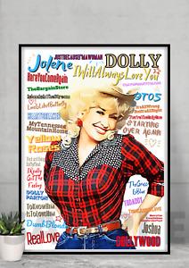 Dolly Parton Pop Art poster Country music Memorabilia/Keepsake/Gift FREEPOST UK