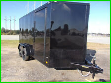 2020 Covered Wagon 7x14 2' v 16' inside enclosed cargo black blackout New