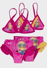 NWT Despicable Me Minions Kids Girls Set of 2 Swimming Suit Swimwear Pants Bra