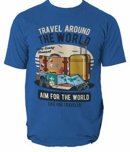 Travel Around The World mens t shirt S-3XL