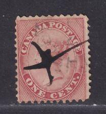 Canada Scott 14 Used 1859 1¢ Rose Queen Victoria SCV $90