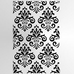 BAROQUE ORNAMENT Reusable Stencil A3 A4 A5 Romantic Shabby Chic Mask Craft /B6